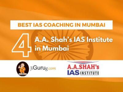Rank 4 Best IAS Coaching of Mumbai