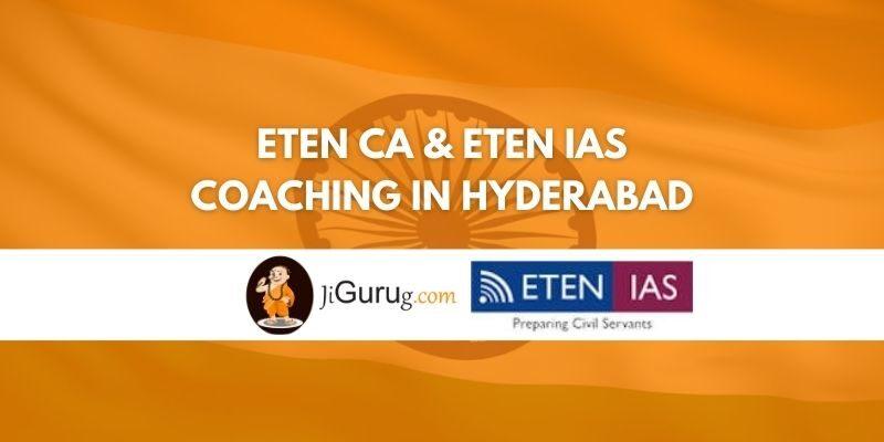 Eten CA & Eten IAS coaching in Hyderabad Review