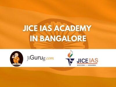 JICE IAS Academy in Bangalore Reviews