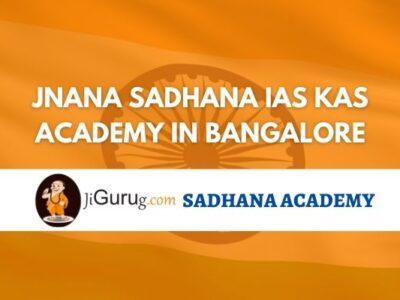 Jnana Sadhana IAS KAS Academy Bangalore Review
