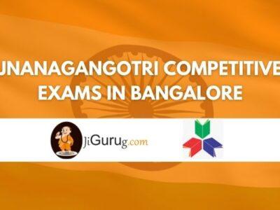 Jnanagangotri Competitive Exams Coaching Centre Bangalore