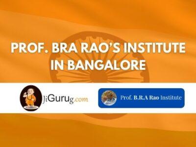 Prof. BRA Rao's Institute Bangalore Review