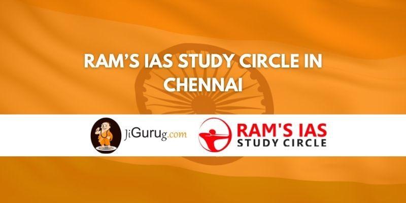 Ram's IAS Study Circle in Chennai Review