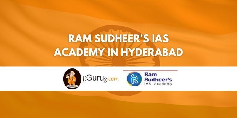 Review of Ram Sudheer's IAS Academy in Hyderabad