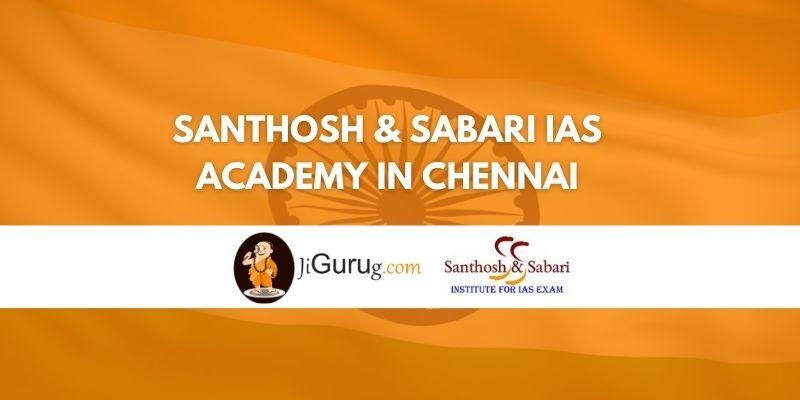 Santhosh & Sabari IAS Academy in Chennai Review