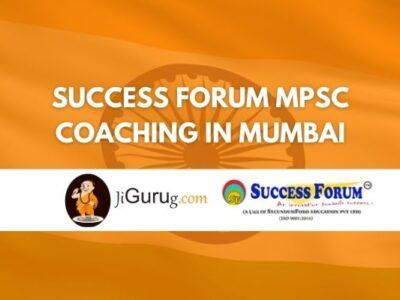 Success Forum MPSC Coaching in Mumbai Review