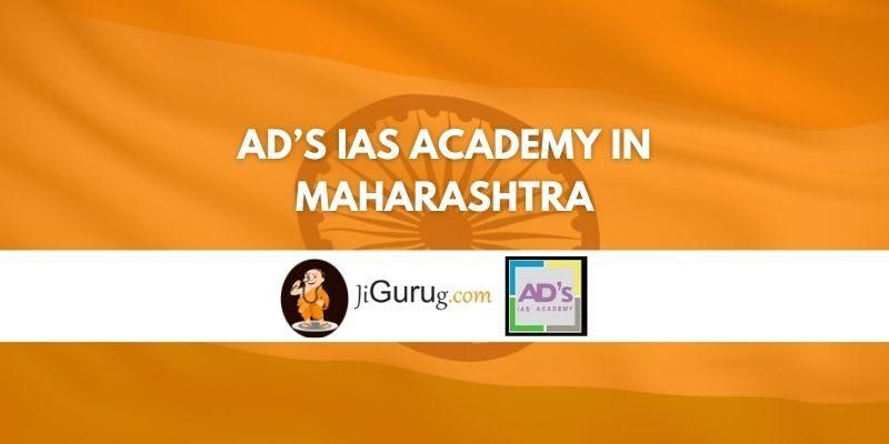 AD's IAS Academy in Maharashtra Review