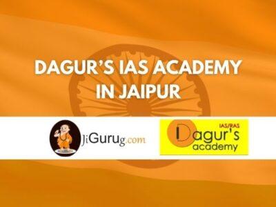 Dagur's IAS Academy in Jaipur Review