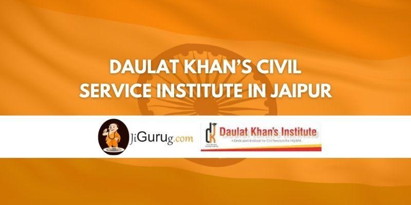 Daulat khan's Civil service institute in Jaipur Review
