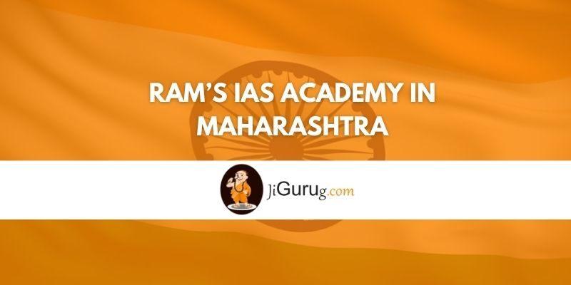 Ram's IAS Academy in Maharashtra Review