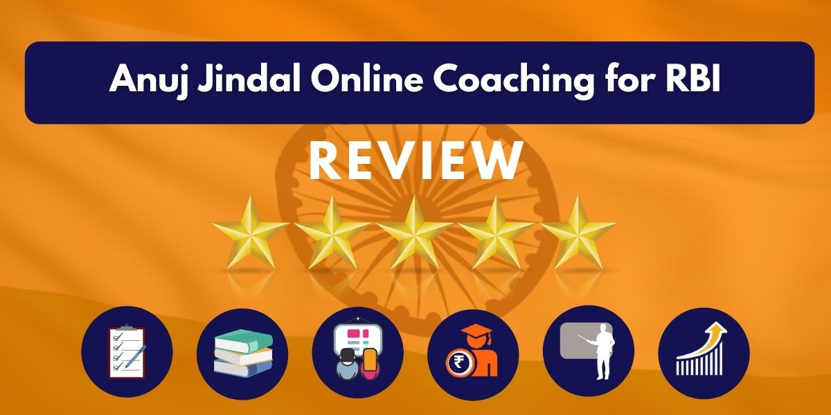 Review of Anuj Jindal Online Coaching for RBI