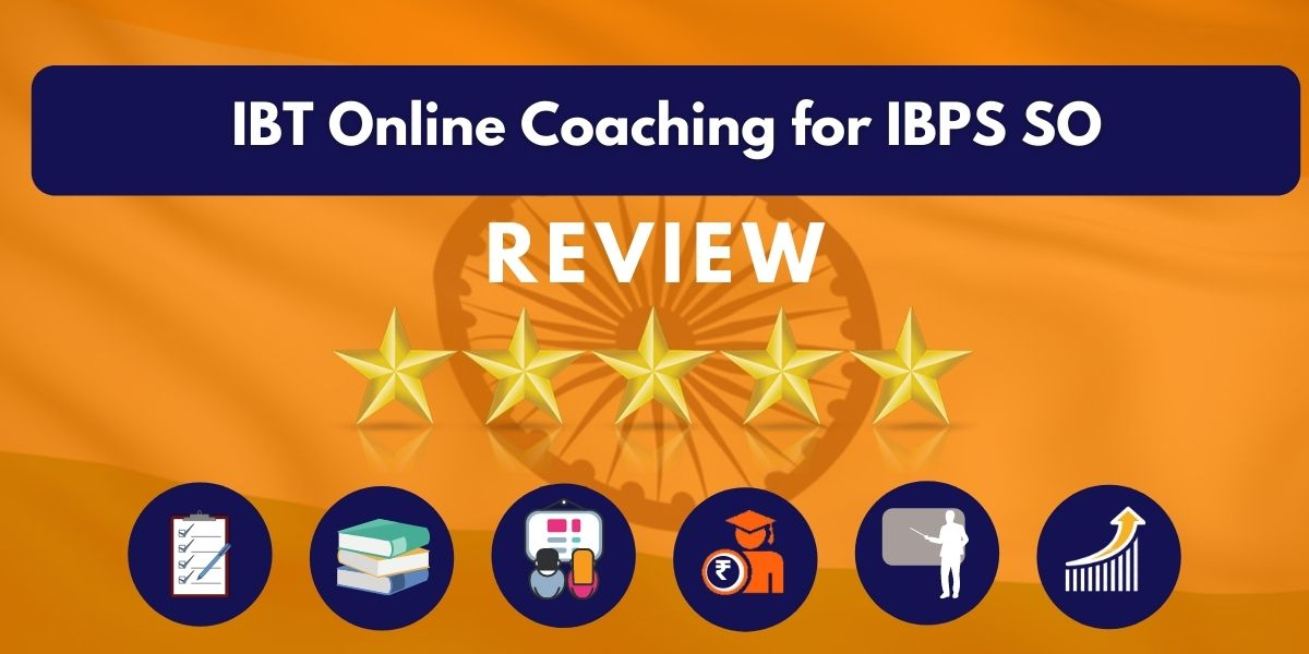 Review of IBT Online Coaching for IBPS SO