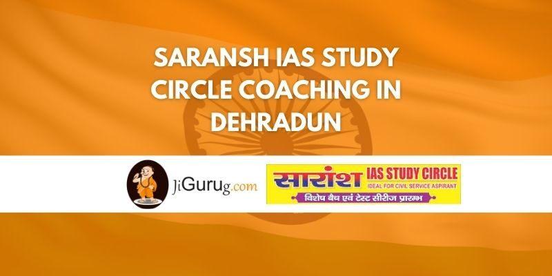 Review of Saransh IAS Study Circle Coaching in Dehradun