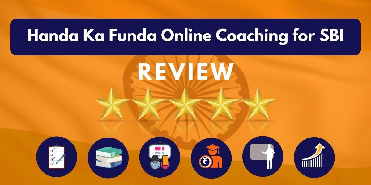 Handa Ka Funda Online Coaching for SBI Review