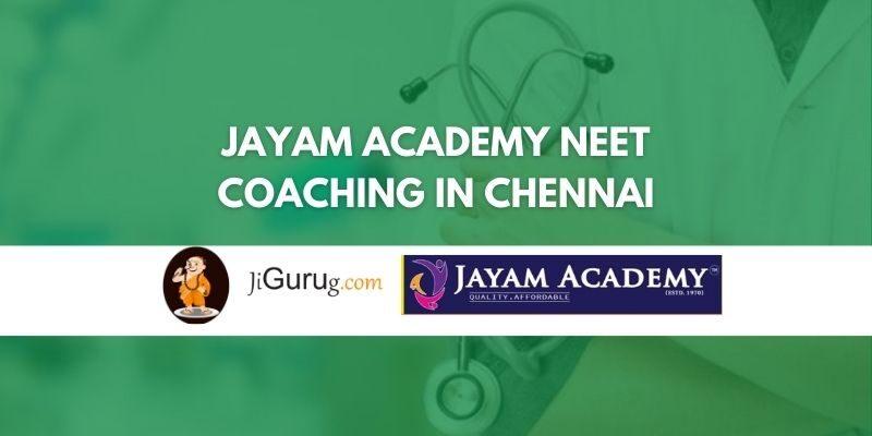 Jayam Academy NEET Coaching in Chennai Review