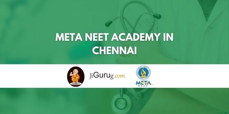 Meta NEET Academy in Chennai Review