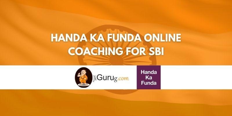 Review of Handa Ka Funda Online Coaching for SBI