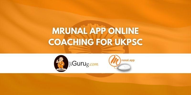 Mrunal App Online Coaching For UKPSC Review