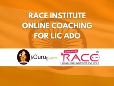 Race Institute Online Coaching for LIC ADO Review