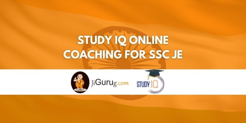 Study IQ Online Coaching For SSC JE Review