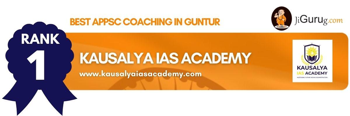 Top APPSC Coaching in Guntur