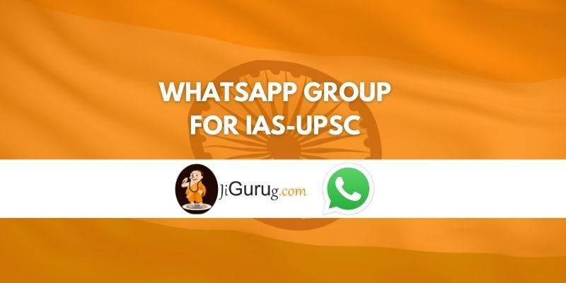 Whatsapp group for IAS