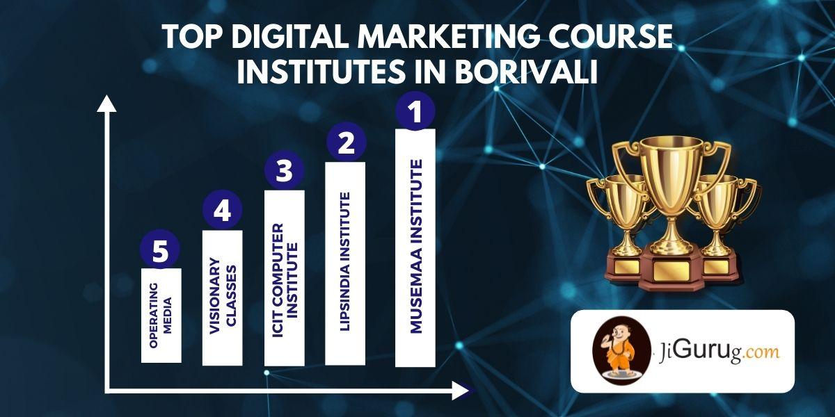 List of Top Digital Marketing Courses Institutes in Borivali