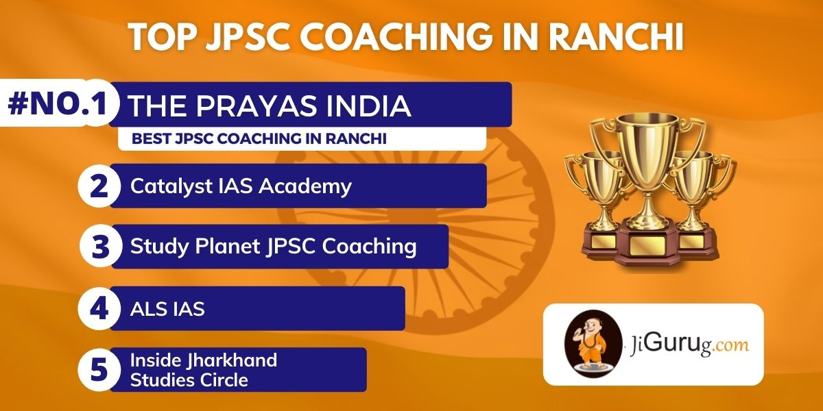 List of Top JPSC Exam Coaching Centres in Ranchi